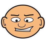 Stock Illustration of cartoon bald head