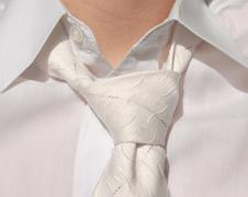 White tie close up Stock Illustration