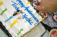 Stock Photo of Anniversary Cake