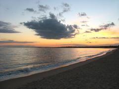 Ct beach sunset Stock Photos
