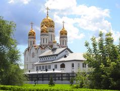 Russian orthodox church - stock illustration