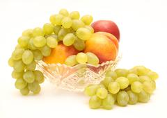 Stock Illustration of Grapes and nectarines