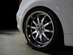 custom wheel detail - stock photo