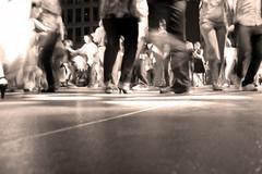 Dance Floor Movement - stock photo