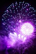 Beautiful Fireworks - stock photo