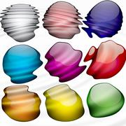 Stock Illustration of paint blobs