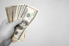 Handful of Money Stock Photos