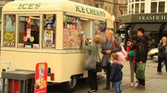 Ice creams van Stock Footage