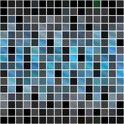 Blue Squares Pattern - stock illustration