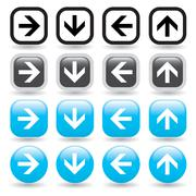 Stock Illustration of Arrow Button Set