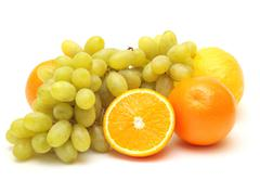 Grapes and oranges Stock Illustration