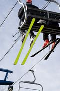 Ski Lift Chair - stock photo