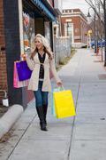 Pretty Blonde Shopper Stock Photos