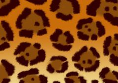 Texture for a background - a fluffy skin of a jaguar Stock Illustration