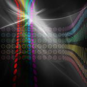 Stock Illustration of Rainbow Circles Layout