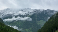 Timelaps in Austrian mountains, Аlps Stock Footage