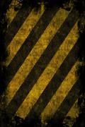 Stock Illustration of Grunge Hazard Stripes