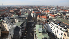 Aerial view on the Munich center. (hd, 1920x1080, high definition, 1080p) Stock Footage