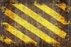 Grunge Hazard Stripes - stock illustration