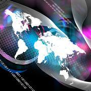 Worldwide Montage Stock Illustration