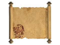 3d scroll of old parchment Stock Illustration