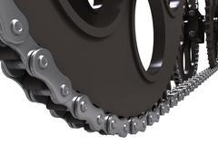 Chain drive - stock photo