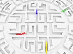 Round labyrinth Stock Photos