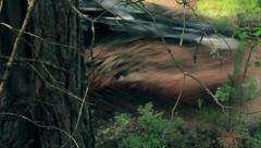 Car in a Dirt Puddle - stock footage