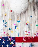 Stock Photo of soccer: usa party background for international competition