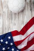 Stock Photo of soccer: usa flag background for international competition