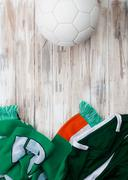 Stock Photo of soccer: irish background for international competition