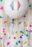 Stock Photo of soccer: france background with confetti