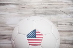 Stock Photo of soccer: unite states soccer ball background for international competition