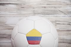 Stock Photo of soccer: columbian soccer ball background for international competition