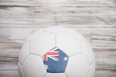 Stock Photo of soccer: australian soccer ball background for international competition