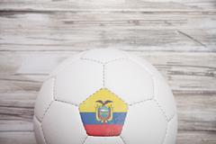 Stock Photo of soccer: ecuador soccer ball background for international competition