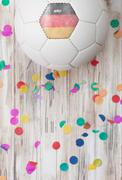 Stock Photo of soccer: german background with confetti
