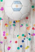 Stock Photo of soccer: argentina background with confetti