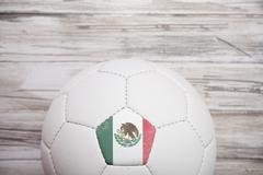Stock Photo of soccer: mexican soccer ball background for international competition