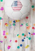 Stock Photo of soccer: united states background with confetti