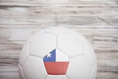 Stock Photo of soccer: chile soccer ball background for international competition