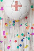 Stock Photo of soccer: england background with confetti