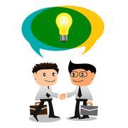 Share ideas Stock Illustration