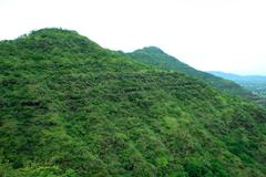 Sahyadri mountain greenery - stock photo