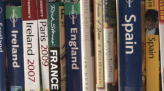 Travel Books Pan - stock footage