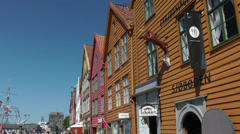 North Europe Norway City of Bergen 002 historical houses in old bryggen district Stock Footage