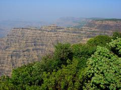 Mahabaleshwar mountain scene - stock photo