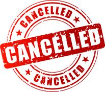 Vector cancelled stamp Stock Illustration