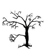 Creepy Tree  Stock Illustration