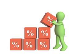 Stock Illustration of Percent growth